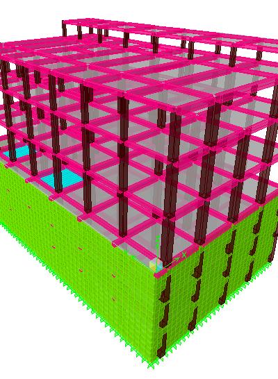 سبک سازی ساختمان بتنی
